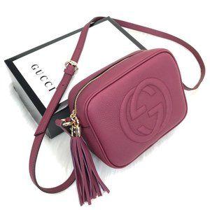 Purple Color Gucci Soho Disco Bag